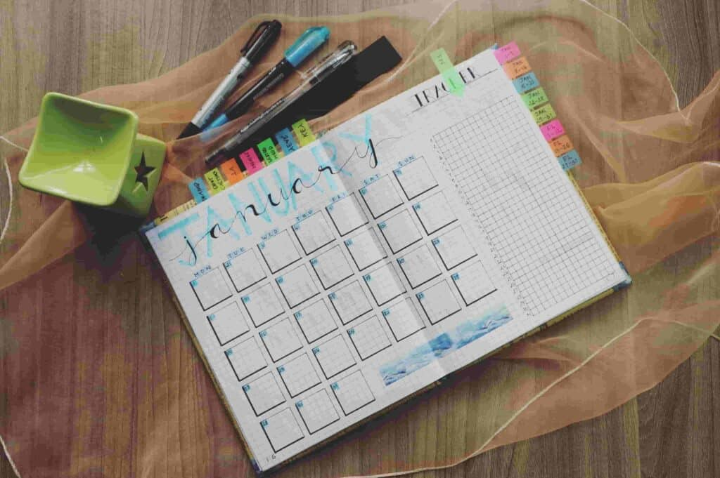 Training Calendar Excel Template